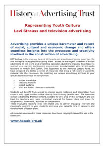Representing Youth Culture Levi Strauss and television advertising