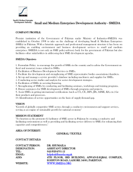 Small and Medium Enterprises Development Authority
