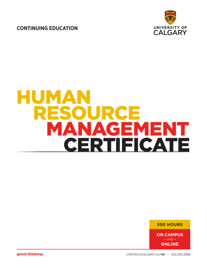 Human Resource Management Certificate