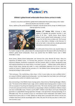 Gillette's global brand ambassador Bruno Senna arrives in India