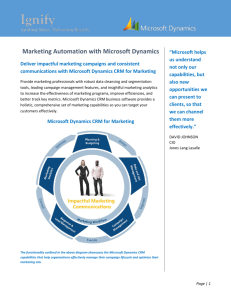 Marketing Automation with Microsoft Dynamics