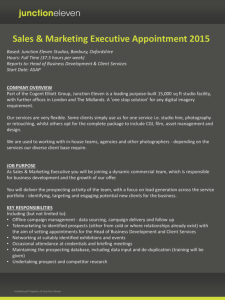 Sales & Marketing Executive Appointment 2015