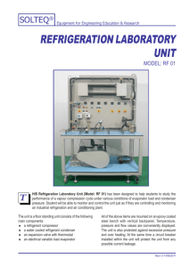 refrigeration laboratory unit