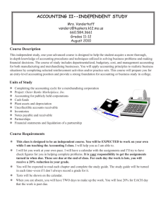 ACCOUNTING II--INDEPENDENT STUDY