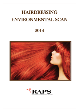 hairdressing environmental scan 2014