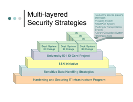 Multi-layered Security Strategies