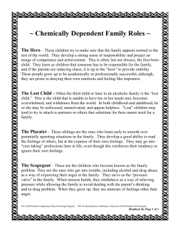 Chemically Dependent Family Roles