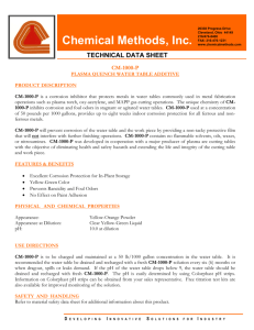 1000-P - Chemical Methods Inc