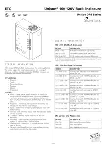 Unison® 120V Dimming Racks