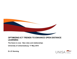 optimizing ict trends to enhance open distance learning