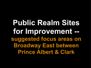 suggested focus areas on Broadway East between Prince Albert