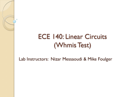 WHMIS & lab information - Electrical and Computer Engineering
