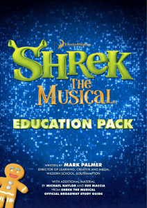 - Shrek The Musical