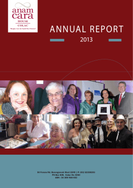 annual report - Anam Cara House Colac
