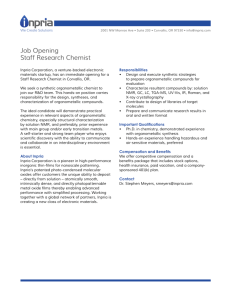 Job Opening Staff Research Chemist