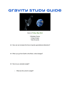 Gravity Study Guide