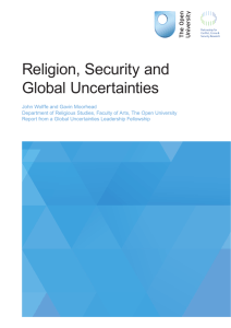 Religion, Security and Global Uncertainties