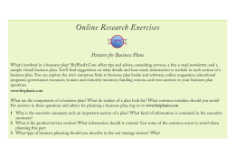 Online Research Exercises