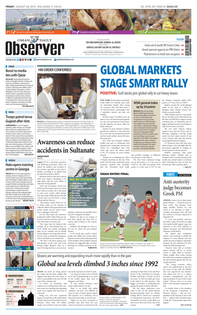 global markets stage smart rally