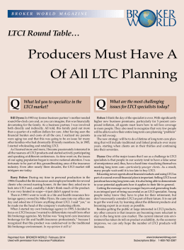 Of All LTC Planning Solutions Producers Must Have A Broad-Ba