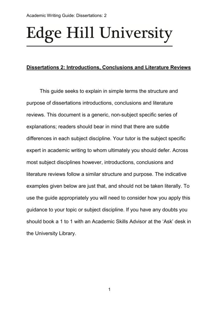 Writing a dissertation conclusion sample essay argumentative