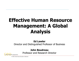 Effective Human Resource Management: A Global Analysis Effective
