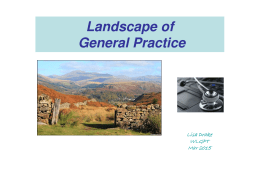 Landscape of General Practice - West Lakes GP Training Programme