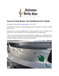 Tucson to Tesla Motors: Your Building Permit is