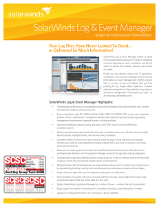 SolarWinds Log & Event Manager Features