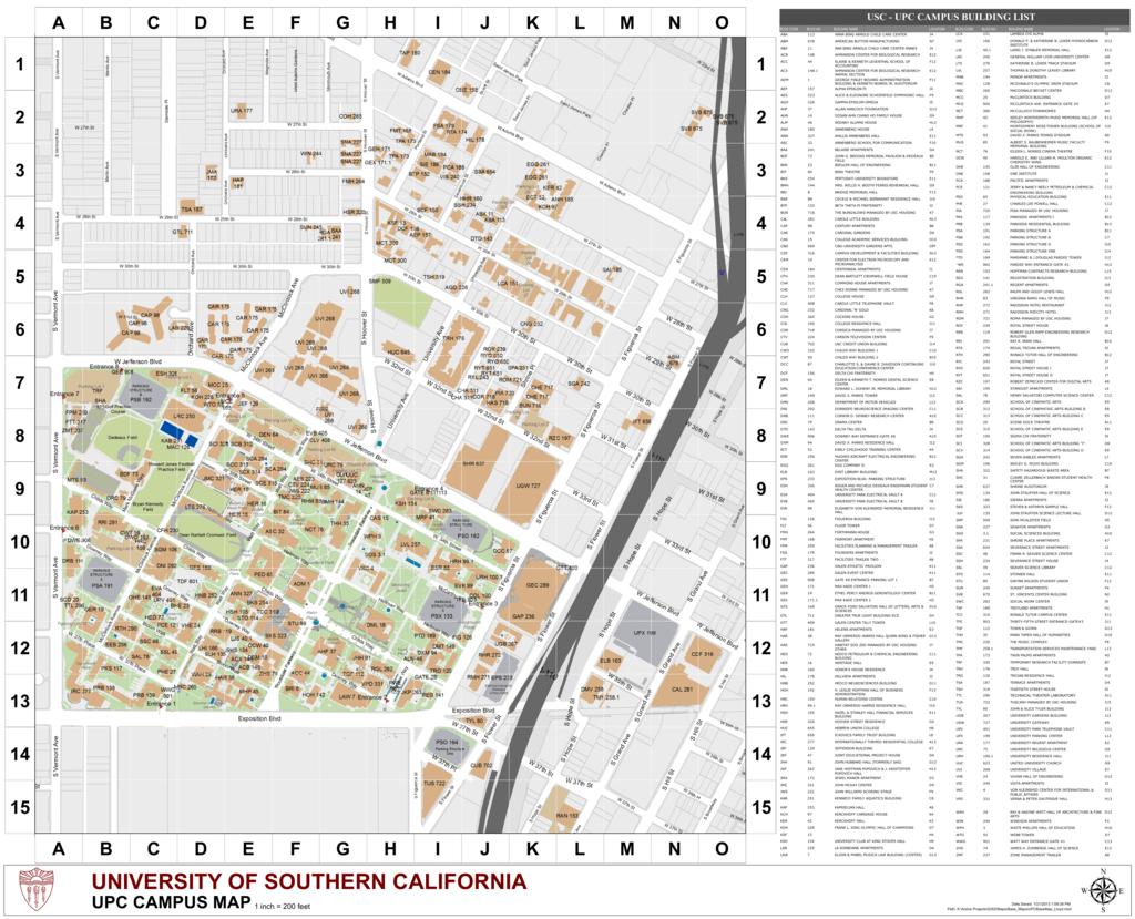 FMS UPC Map USC Facilities Management Services - Map of usc columbia