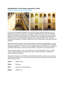 Rehabilitation of the Hindu stepwells in India