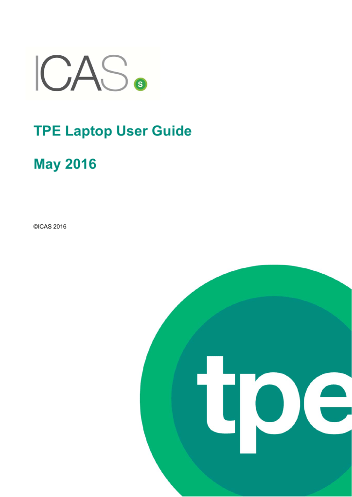 TPE Laptop User Guide May 2016