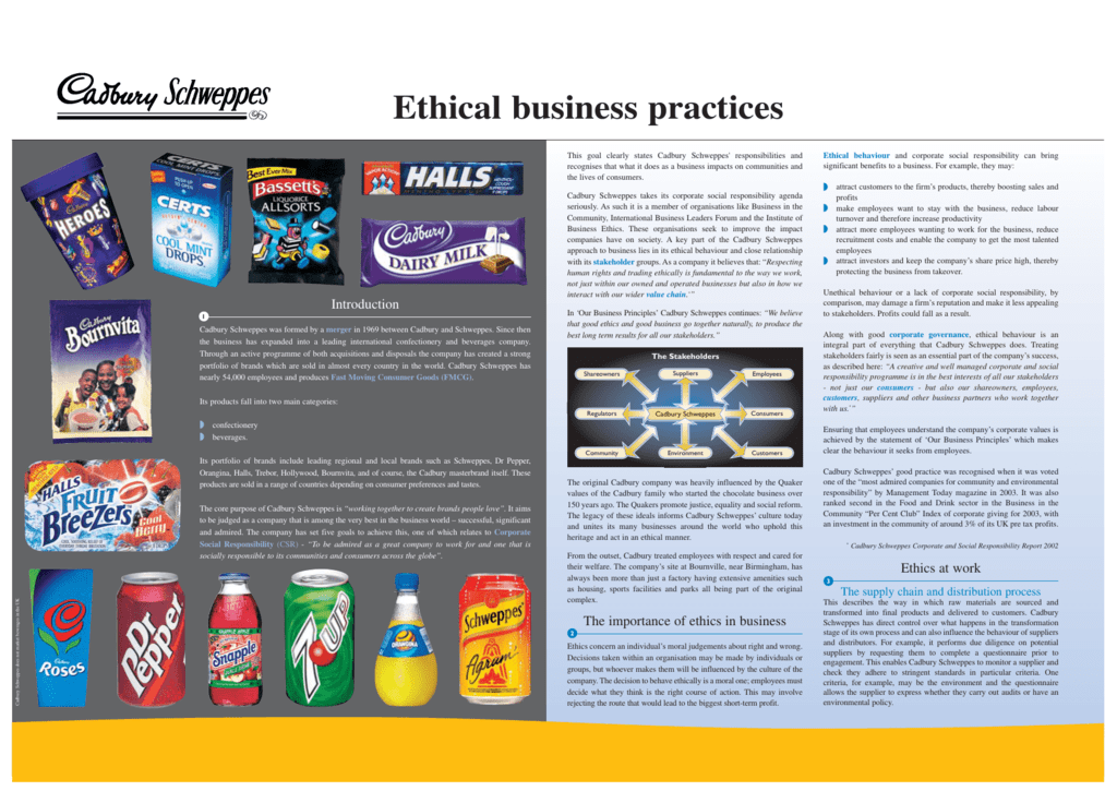 Ethical business practices