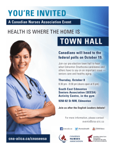 CNA Edmonton Strathcona Election Town Hall on Seniors Care and
