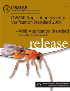 OWASP Application Security Verification Standard 2008