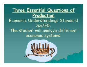 Three Essential Questions of Production