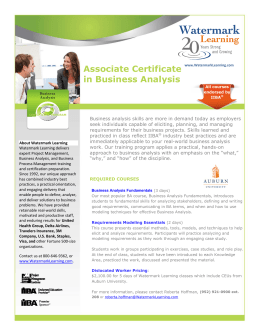 Associate Certificate in Business Analysis