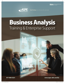 Business Analysis Training & Enterprise Support