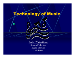 Technology of Music Distribution Mediums