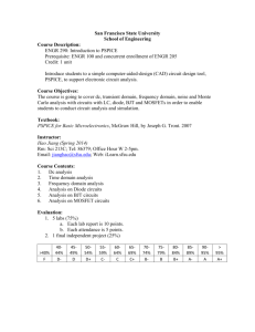 Syllabus - SFSU - Bioelectronics Lab