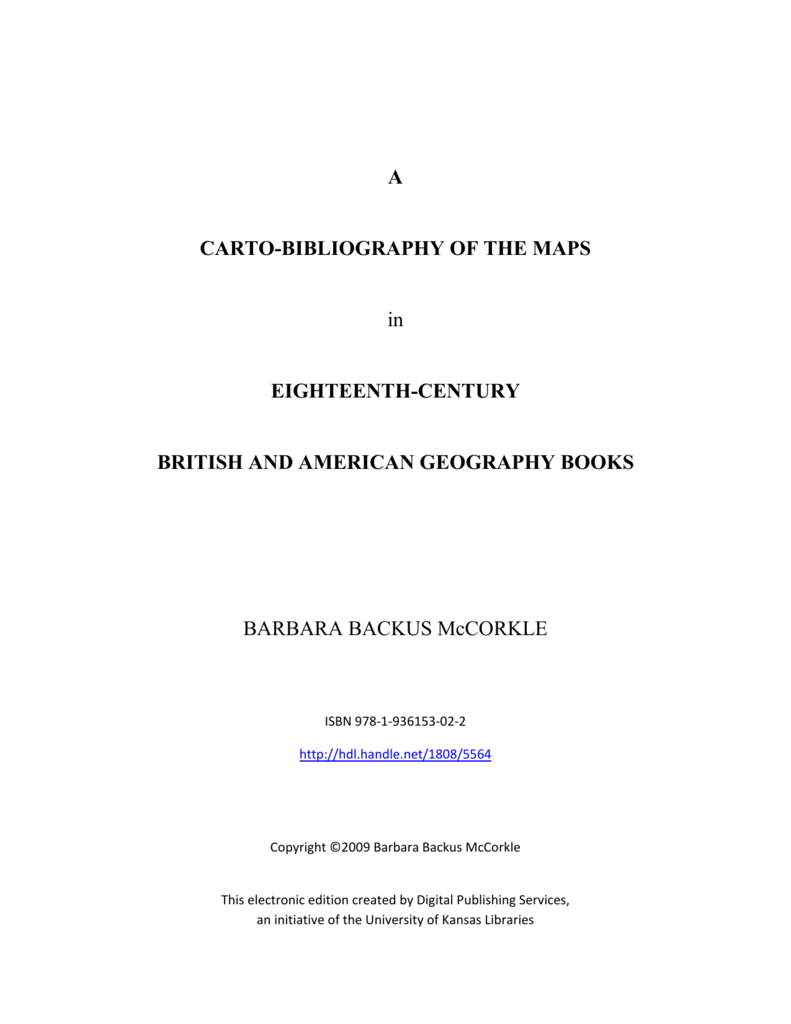 46cdfeab775 a carto-bibliography of the maps - The Bibliographical Society of