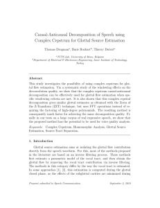Causal-Anticausal Decomposition of Speech using