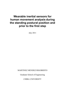 Wearable inertial sensors for human movement analysis