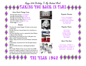 The Year 1962 Taking You Back In Time