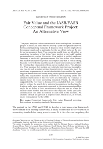 Fair Value and the IASB/FASB Conceptual Framework Project: An