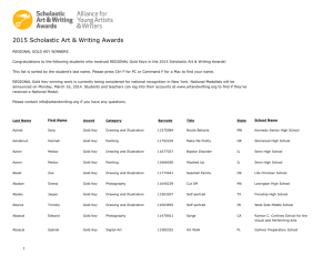 2015 Scholastic Art & Writing Awards