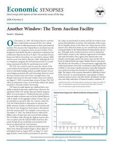 Another Window: The Term Auction Facility