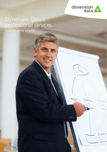 Dimension Data's professional services