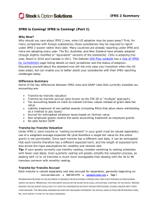 Summary of IFRS 2 - Stock & Option Solutions