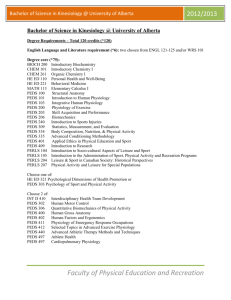 BScKIN Course List 2011 - Undergraduate Admissions